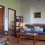 Wohnbereich mit Schlafsofa Ferienhaus Casa Azul