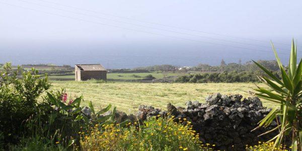 Kikis Azoren Garten Blick auf Atlantik