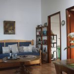 Wohnbereich mit Schlafsofa Ferienhaus Casa Verde